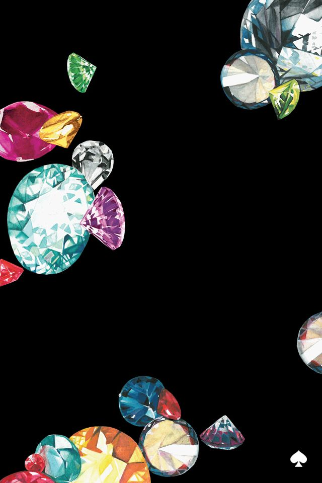 Kate spade king 39 s jewel print mobile background for Jewel wallpaper