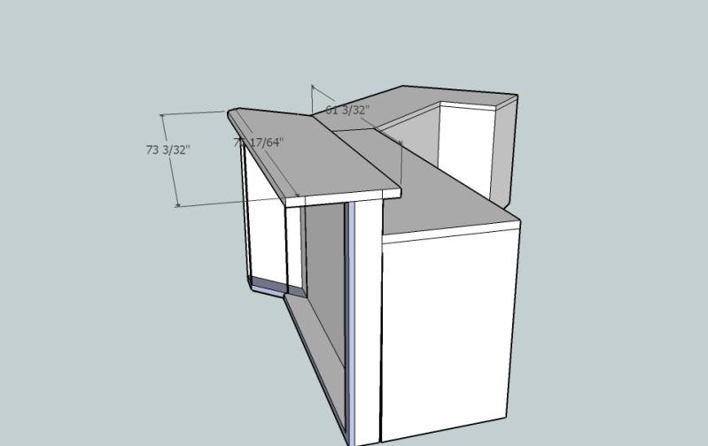 standard bar height   Granite Tile Countertop - Ceramic ...