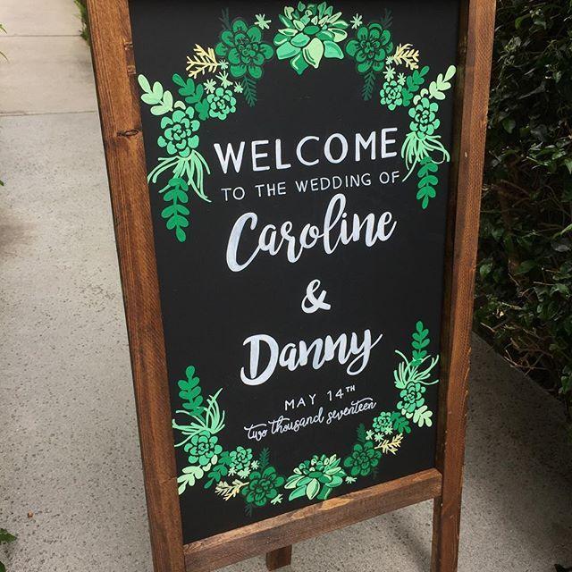 Welcome Wedding Chalkboard Sign Succulent Wedding Sandwich