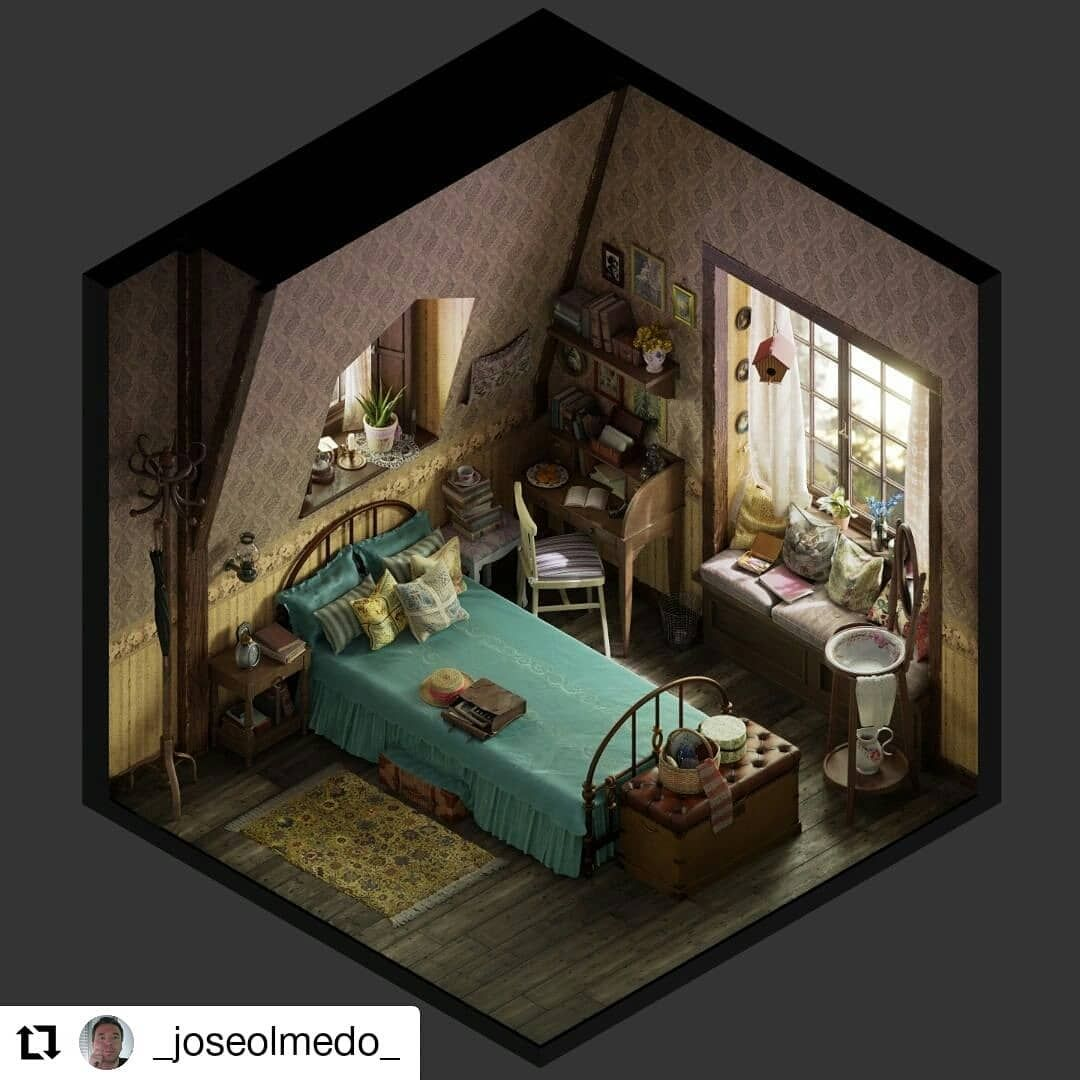 Tiny Rooms On Instagram: Old Room Art By