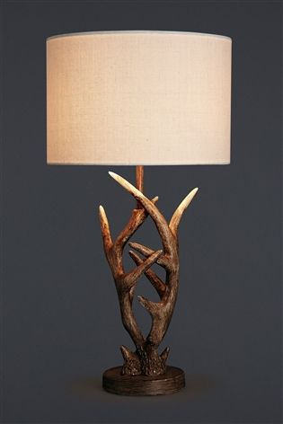 Antler Natural Table Lamp From The Next Uk Online Tripod Bedside