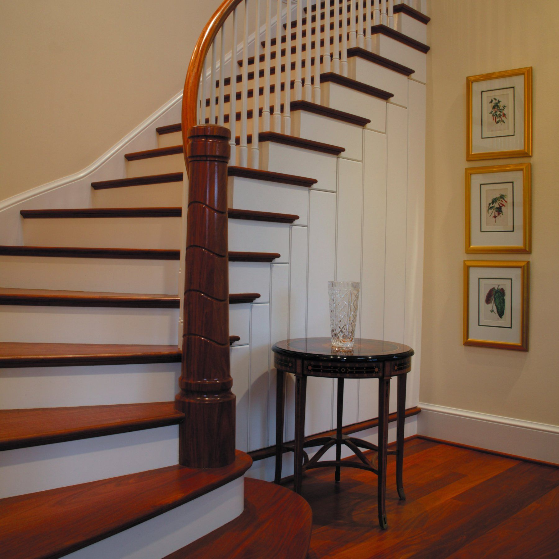 58 Cool Ideas For Decorating Stair Risers: Alluring Design Idea Of Cool Staircase With Brown Wooden