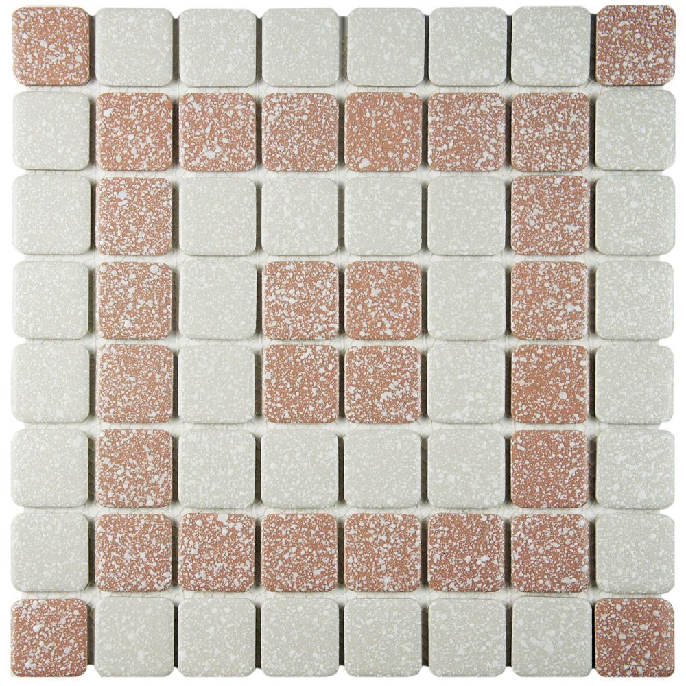 Tessera Subway Ice White 11 3 4 Inch X 11 3 4 Inch X 8 Mm Glass Mosaic Tile 9 79 Sq Ft Case Mosaic Tiles Glass Mosaic Tiles