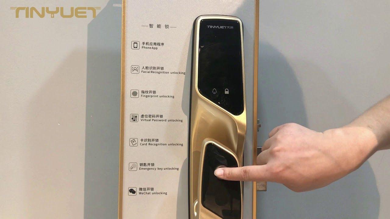Zinc Alloy Outdoor Smart Door Lock Automatic Fingerprint Door Lock