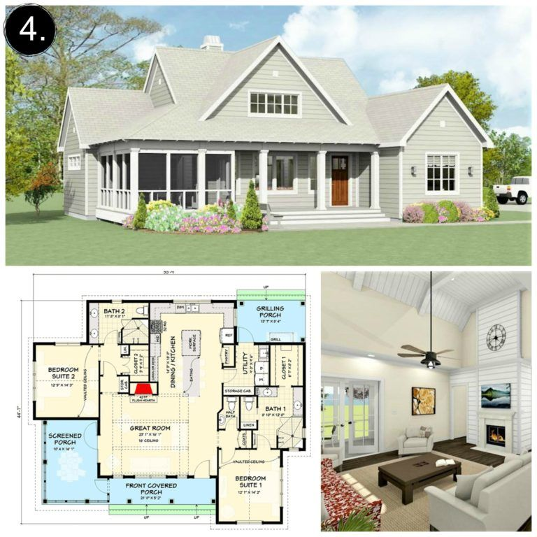 10 Floor Plans Under 2 000 Sq Ft Rooms For Rent Blog Floor Plans Modern Farmhouse Floorplan Farmhouse Floor Plans
