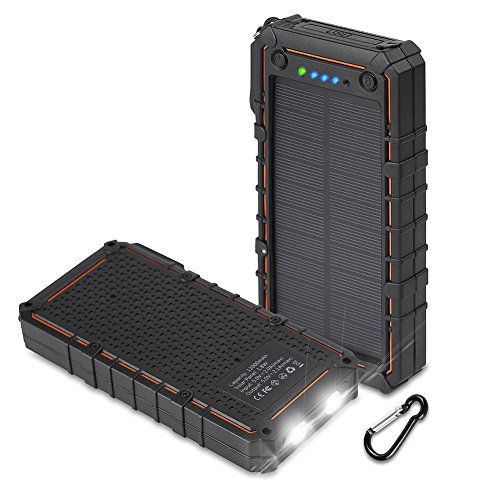 Hobest Solar Charger with Led Flashlight,IP67 Waterproof 12000mAh Solar Battery Charger with Dual USB, 2.1A Output Max Portable Phone Charger External Battery Pack Power Bank for Outdoors  http://topcellulardeals.com/product/hobest-solar-charger-with-led-flashlightip67-waterproof-12000mah-solar-battery-charger-with-dual-usb-2-1a-output-max-portable-phone-charger-external-battery-pack-power-bank-for-outdoors/  12000mAh high capacity with premium polymer cell supports about 4 t