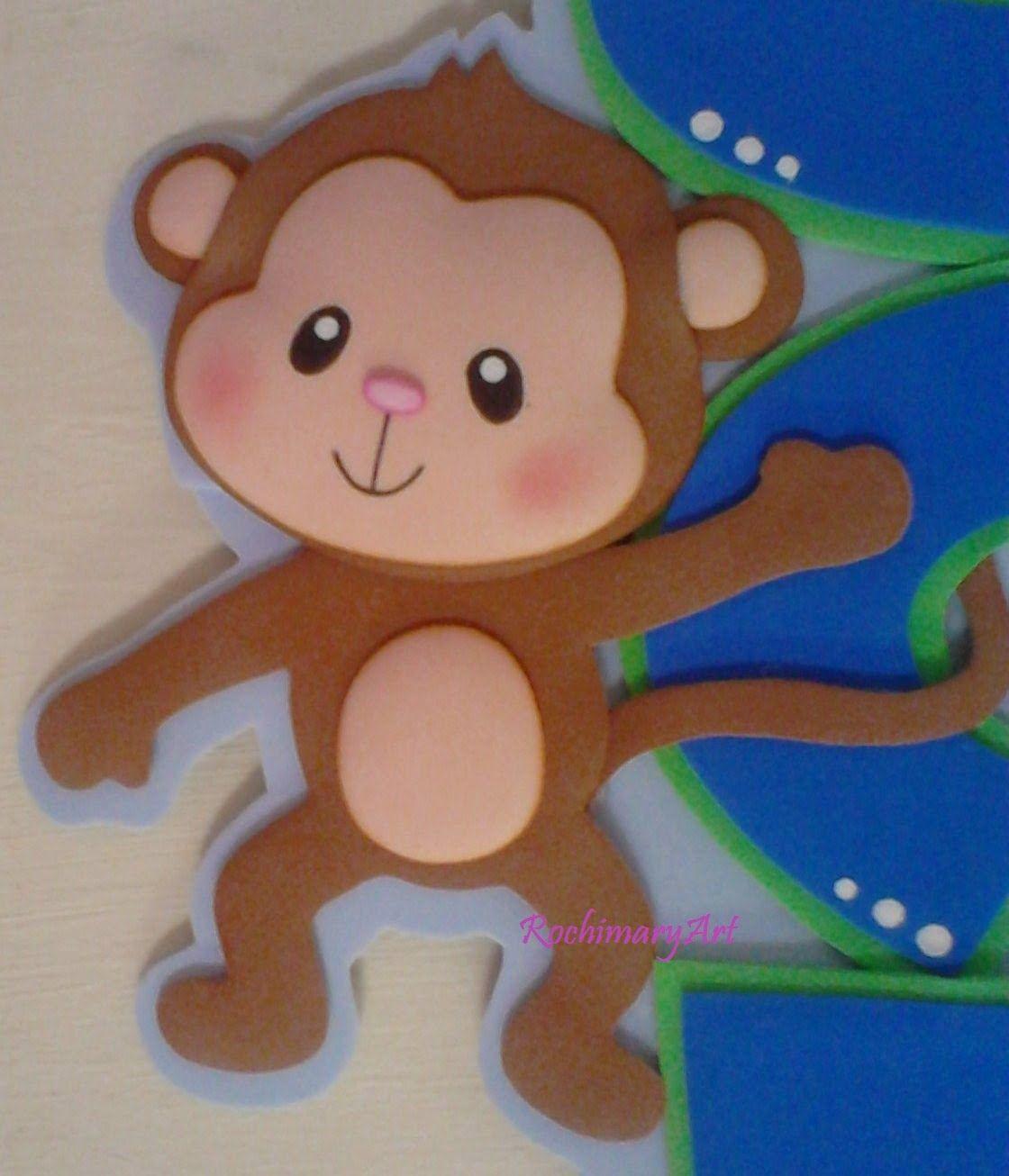 Monito arte pinterest mono manualidades para todos for Sobres de goma eva