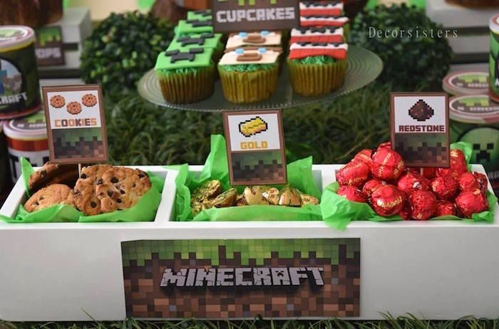 Detailed Minecraft Birthday Party Birthdays Minecraft decorations