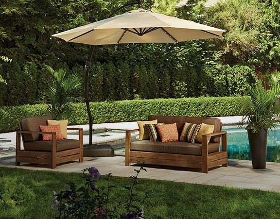 Wonderful Add Shade To Your Outdoor Space With The CANVAS Miramar Offset Patio  Umbrella