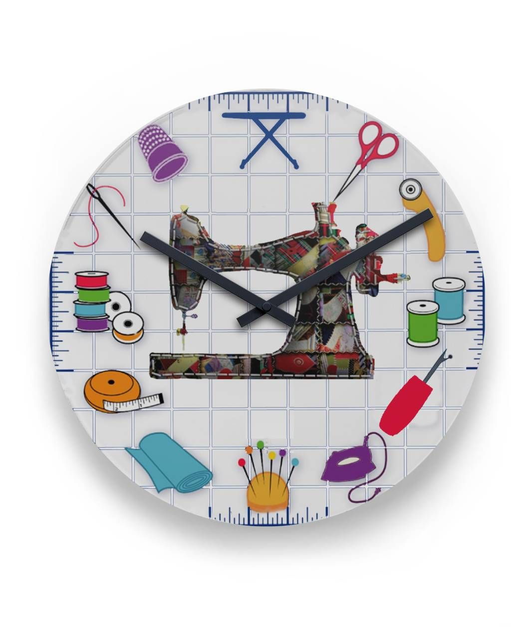 Sewing Room Wall Clock Viralstyle Sewing Rooms Sewing Room Decor Embroidery Patterns Vintage