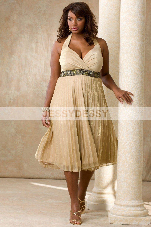Plus size chiffon bridesmaid dress