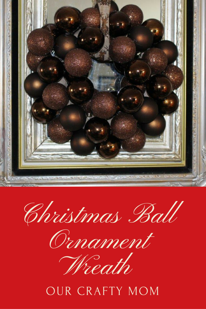 DIY Christmas Ball Ornament Wreath White ornaments