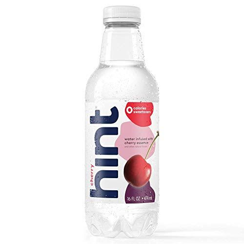 Hint Water Cherry, (Pack of 12) 16 oz Bottles, Pure Water Infused with Cherry, Zero Sugar...