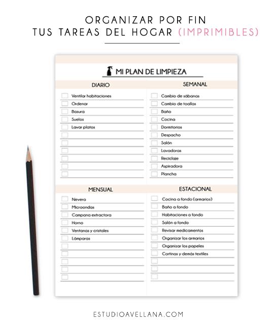 Organizar Las Tareas Del Hogar Imprimibles Tareas Del Hogar