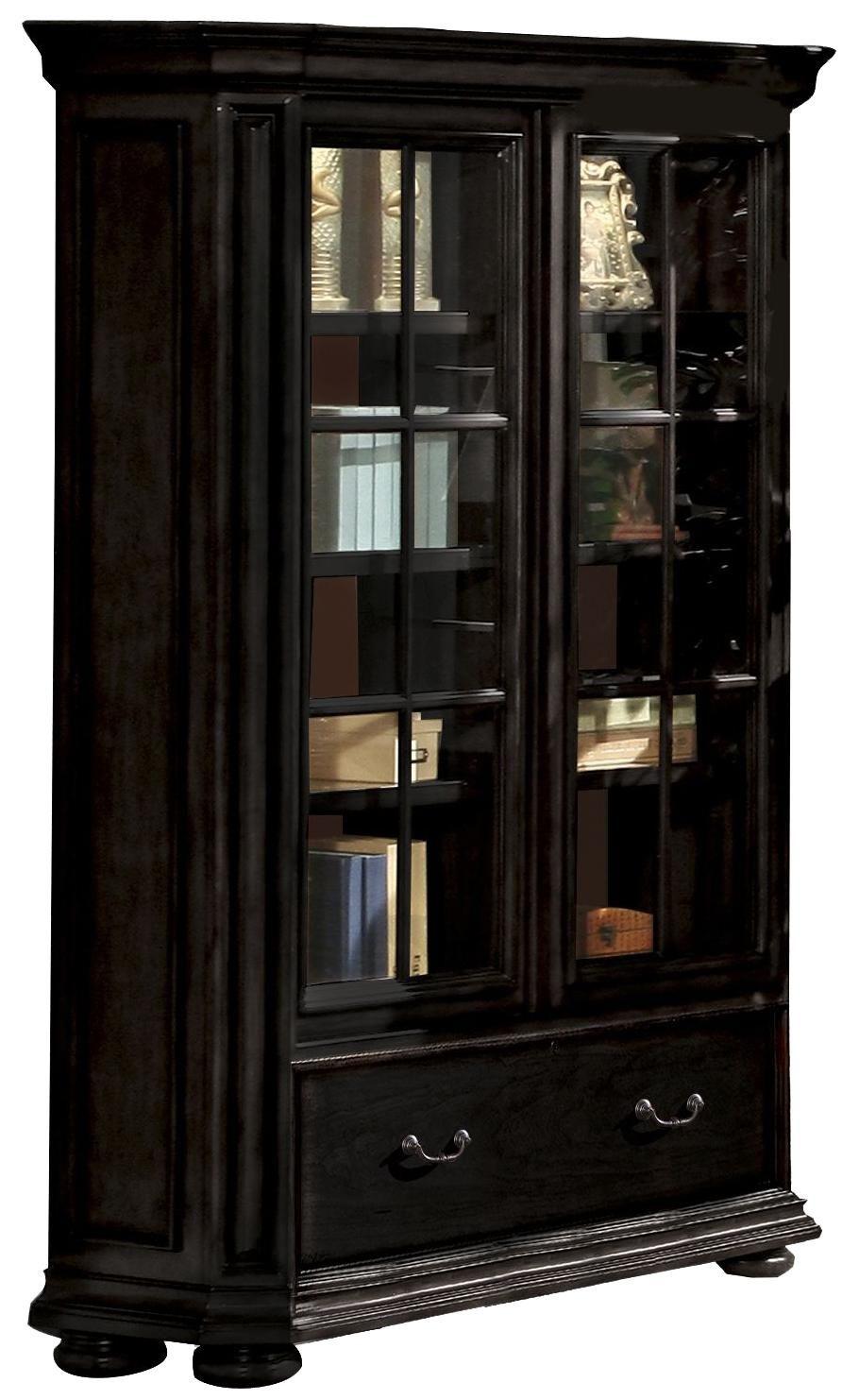 Allegro Rs Sliding Door Bookcase By Riverside Furniture Suburban