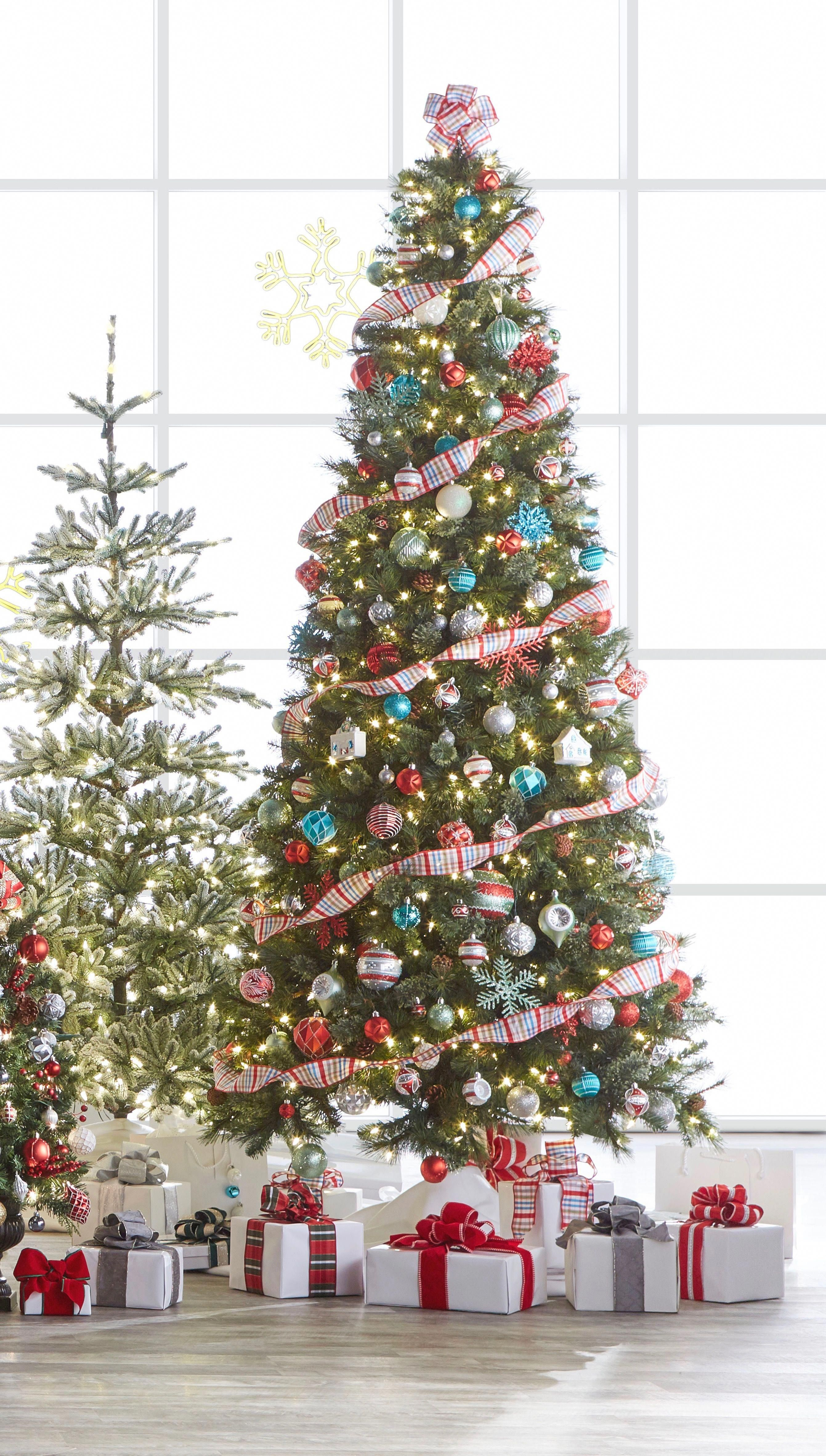 It S That Wonderful Time Of The Year To Unpack The Christmas Tree This Pre Lit Artificial Tree Is Christmas Tree Christmas Tree Decorations Diy Holiday Decor