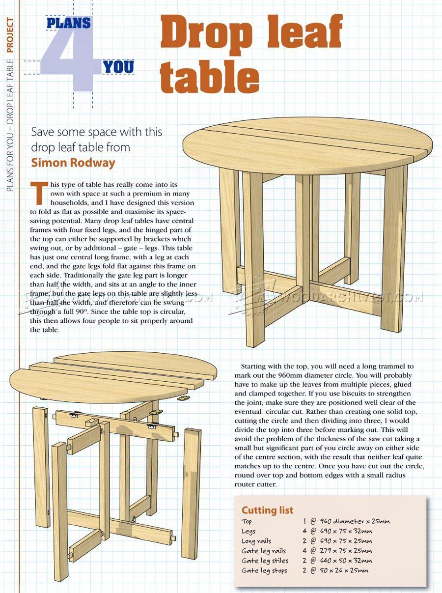 Drop Leaf Table Plans Drop Leaf Table Table Design Table Plans