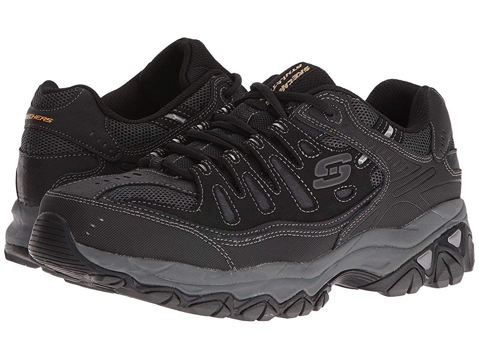 253e7748b67 SKECHERS Afterburn M. Fit Men's Lace up casual Shoes Black in 2019 ...