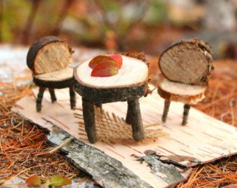 NATURAL DIY Fairy House Kit with Swing Maine Made Birch Bark