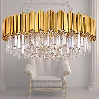 Meelighting Gold Luxury Modern Crystal Chandelier Lighting Contemporary Raindrop Modern Crystal Chandelier Crystal Chandelier Lighting Contemporary Chandelier
