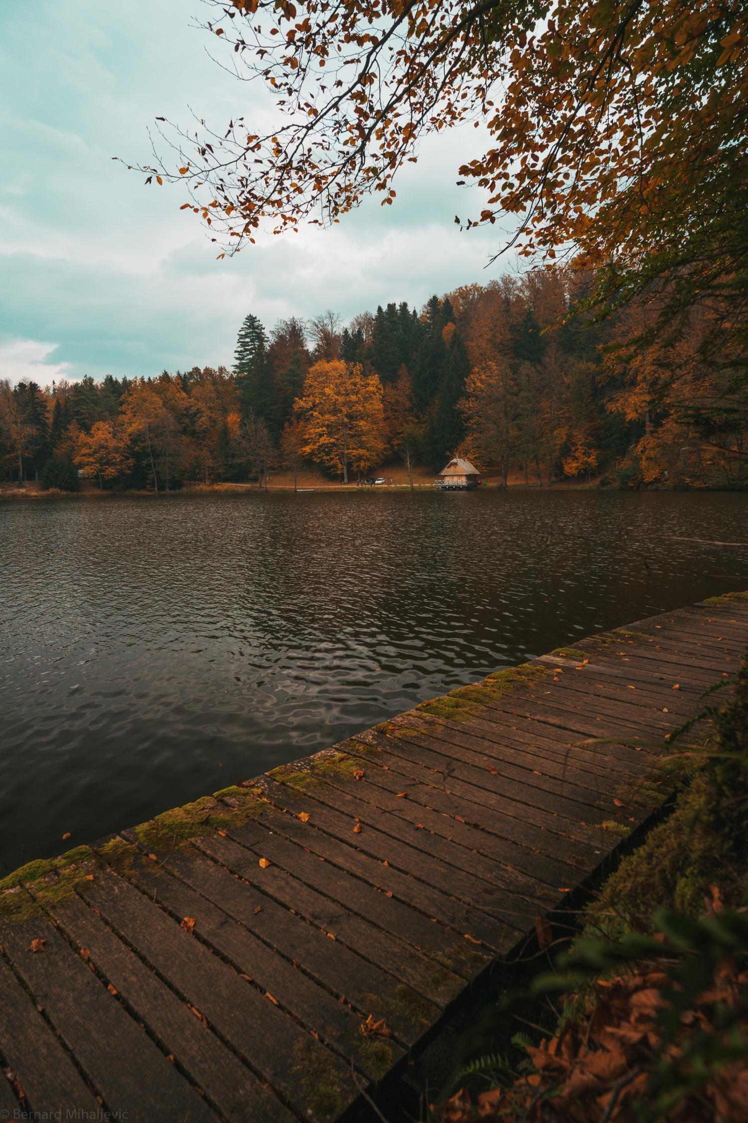 A lake in northern Croatia in November