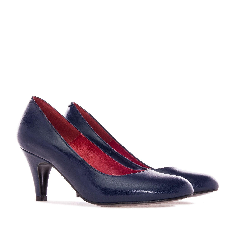 Zapato Medio Pinterest Zapatos De Piel Marino Tacon vrFCxv