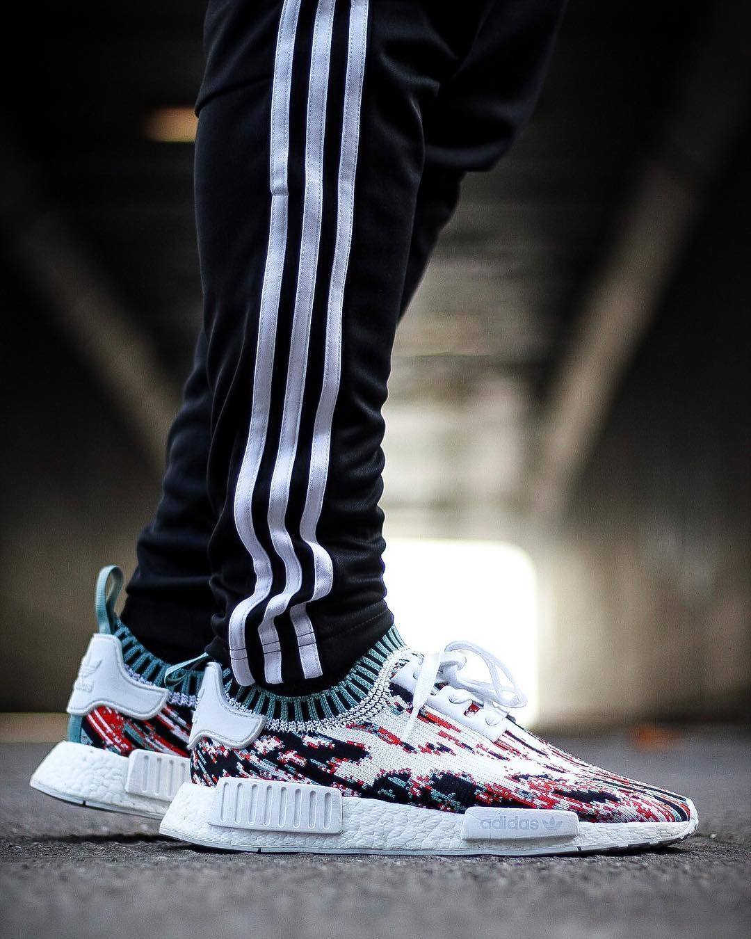 official photos 12e25 0064d SNS x adidas NMD R1 Primeknit Red Datamosh | Street Styles ...