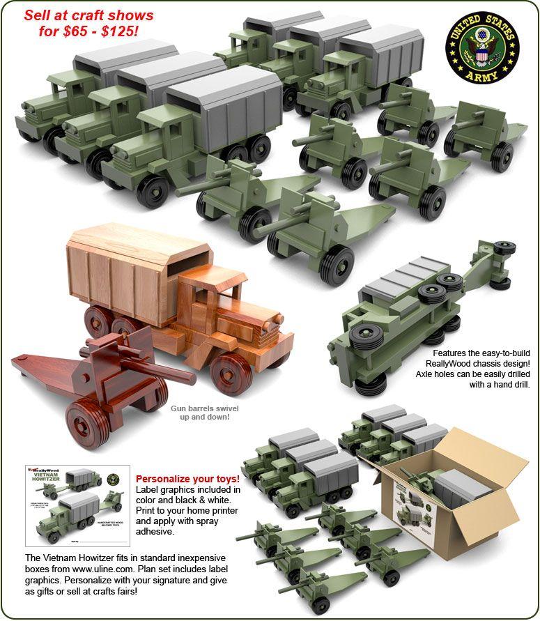 Super ReallyWood Vietnam Howitzer Wood Toy Plans (PDF ...