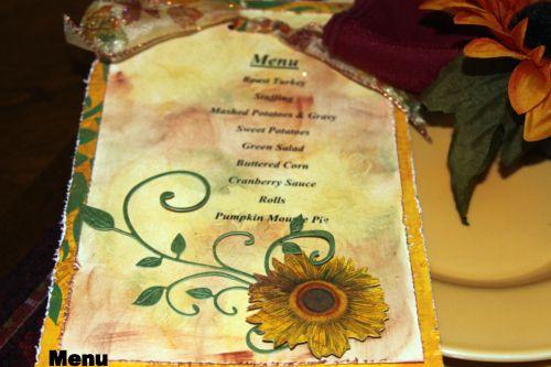 Table Menu by Debbie Sherman  (101912)