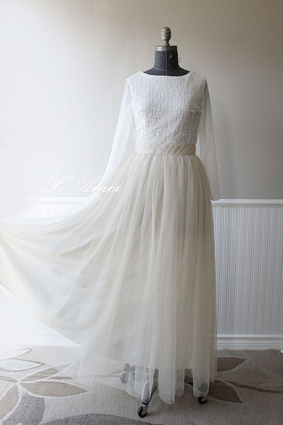 Hand made Rustic Vintage Lace Wedding Gown, Country Rustic Wedding ...