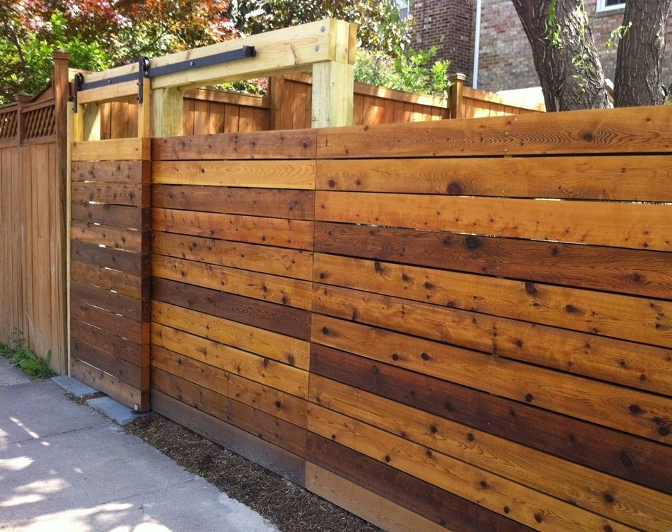 Wood Fence With Sliding Gate Wooden Fence Gate Wood Fence