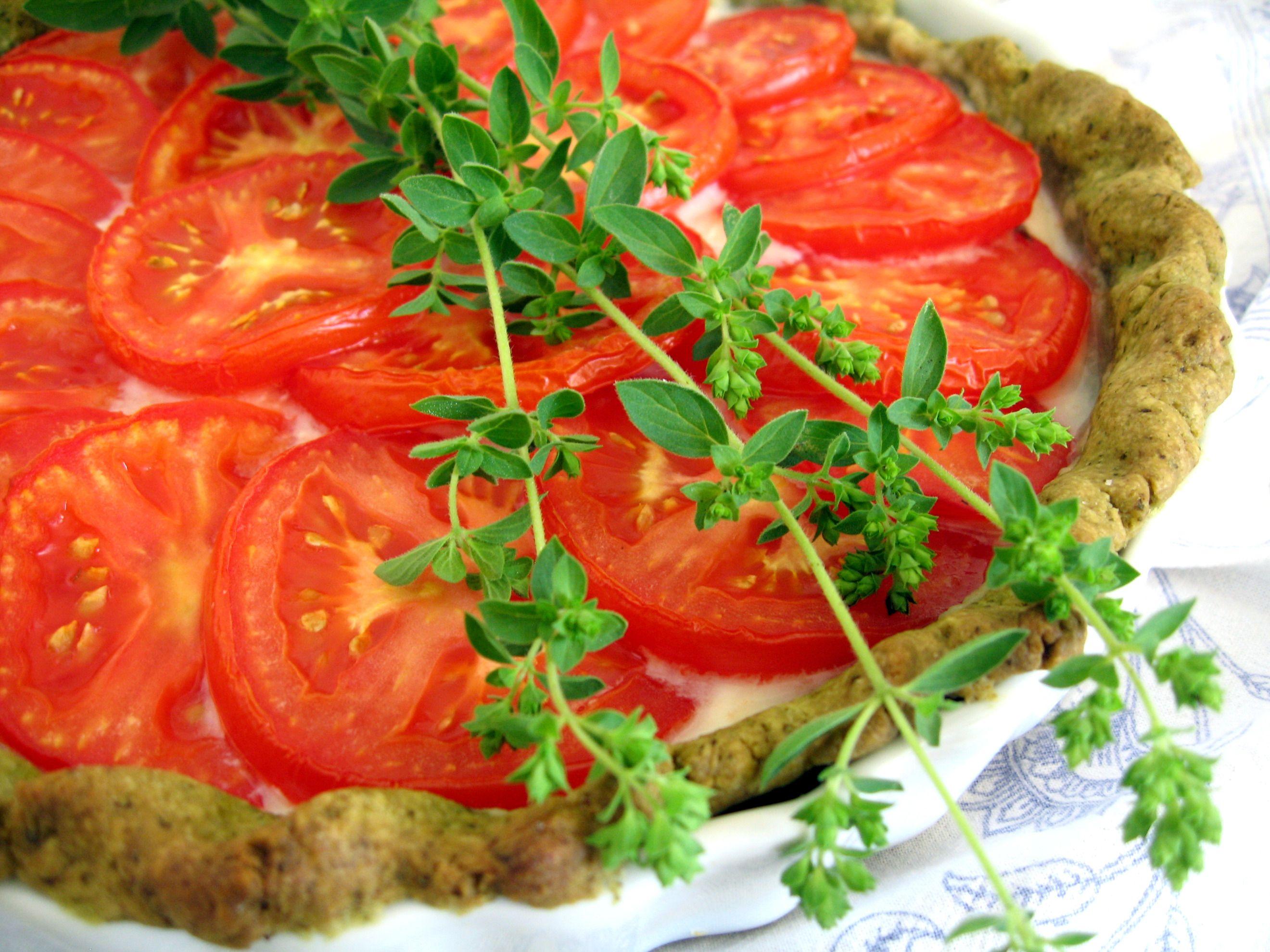 Savory Tomato and Feta Crostata