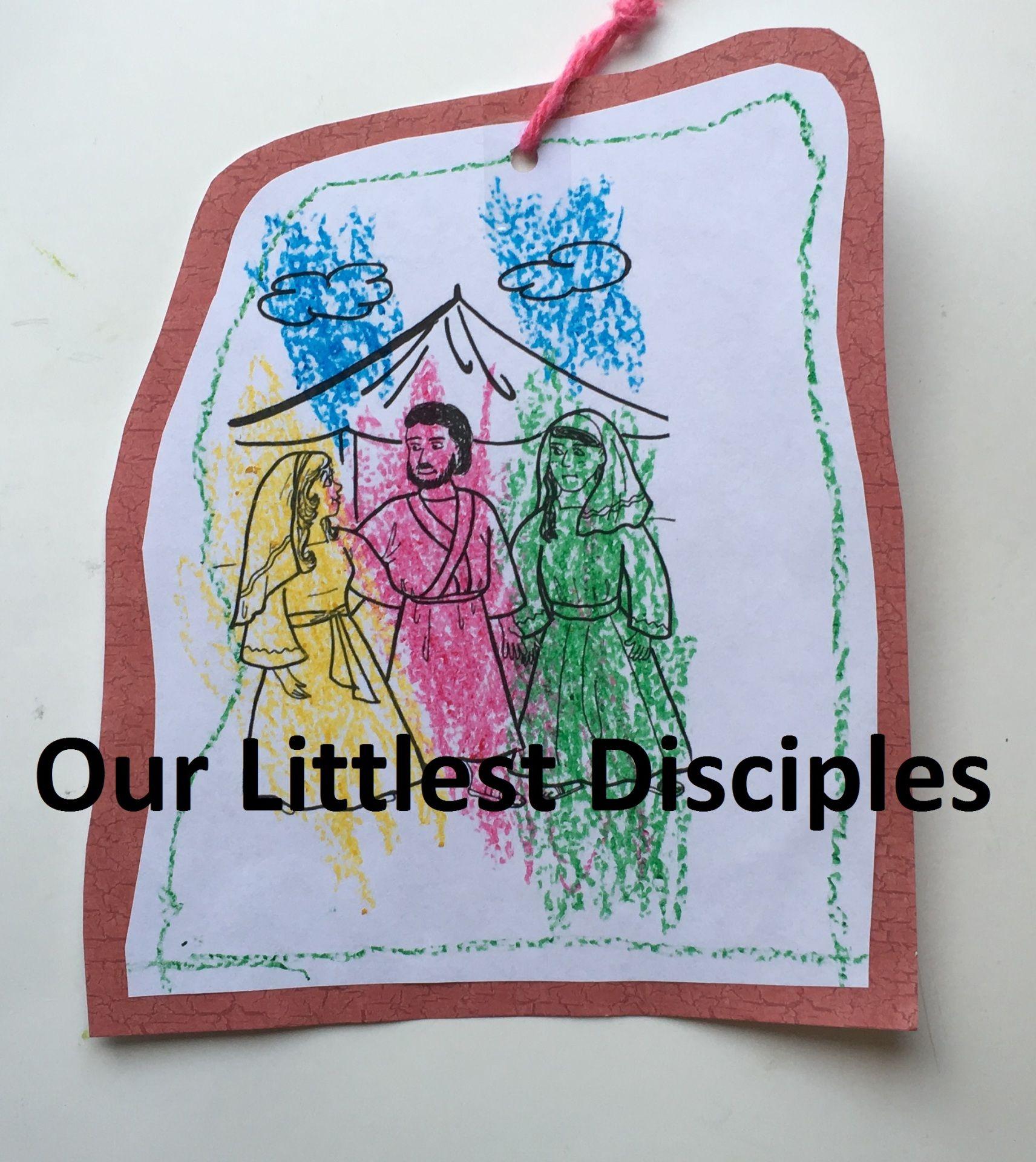 Jacob Bible Marry Leah Rachel Mobile Coloring Page Craft Activity Genesis 27 411 32 32 Five