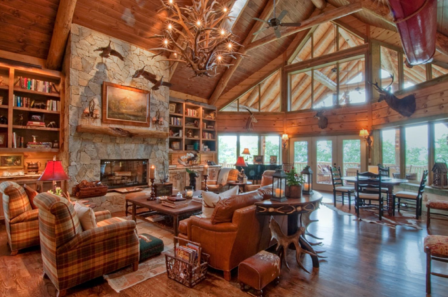 Log Cabin Home Living Room Conway Ready For Snow Home Design Log Cabin Interior Ideas Decorati Log Home Interior Log Cabin Interior Cabin Interior Design