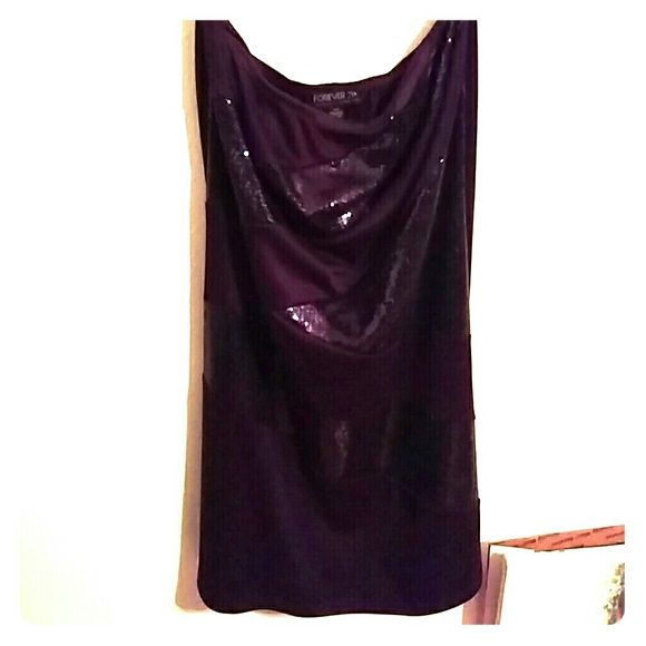 Plum party dress Worn and in great condition. Has sequins
