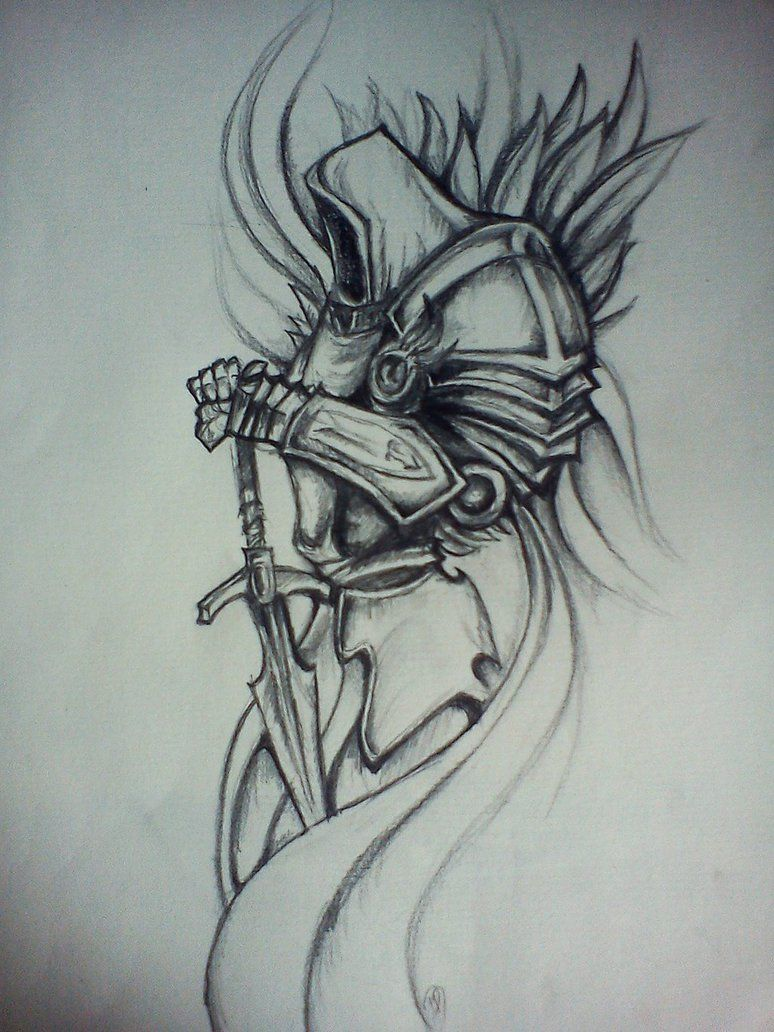 Image Result For Tyrael Drawing Badass Drawings Tribal Sleeve Tattoos Drawings