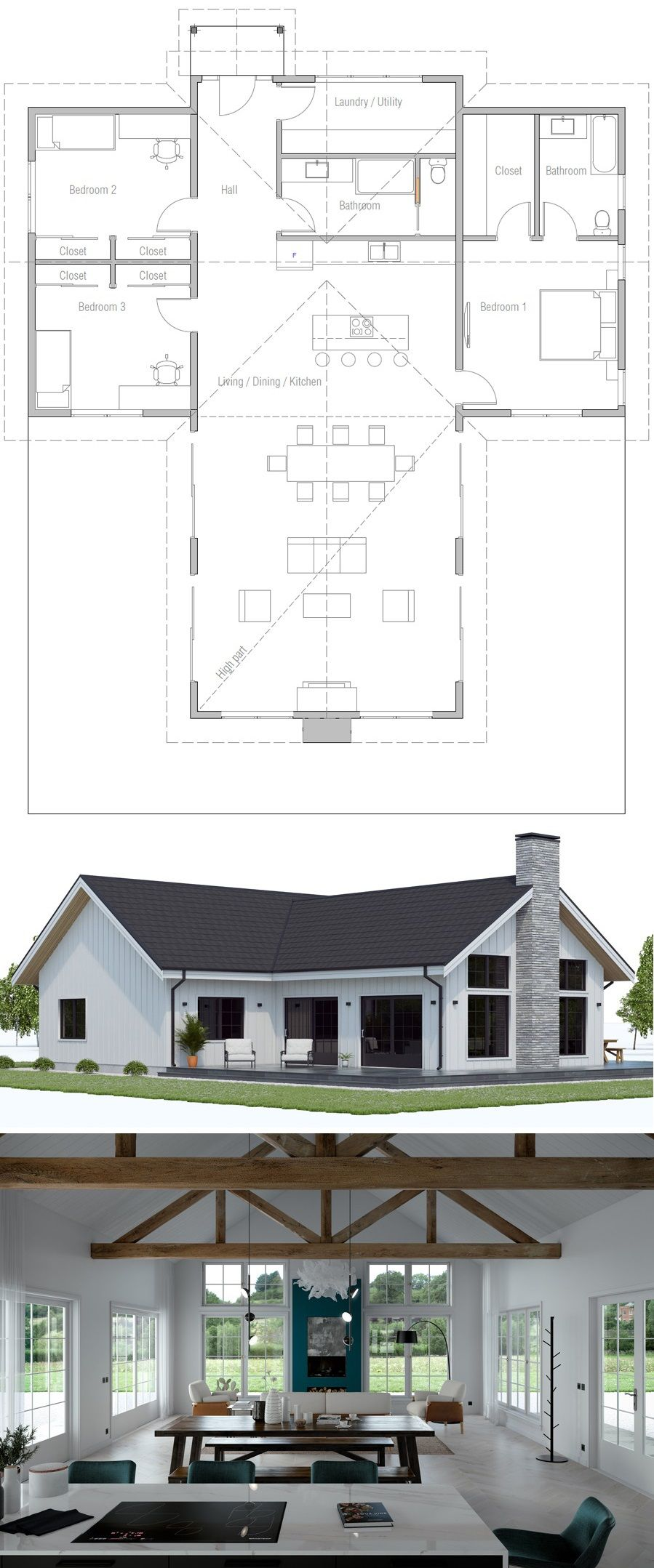 Floor Plan Ch594 Lake House Plans Dream House Plans New House Plans