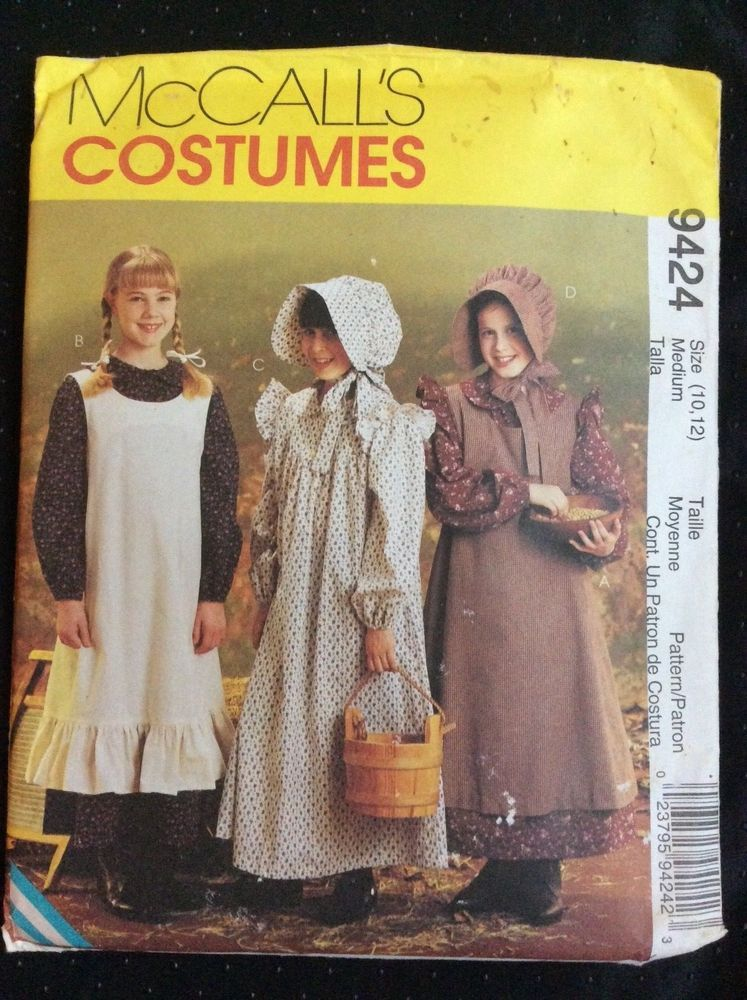 New Mccalls Costumes Uncut Pattern 9424 Pioneer Prairie Girl S