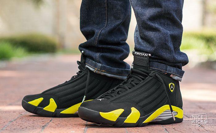 air jordan retro 14 yellow grey