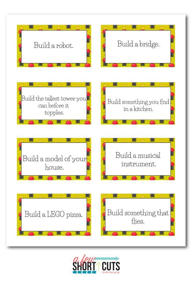 Free Printable Lego Challenge Cards Lego Challenge Lego Stem Activities Stem Task Cards
