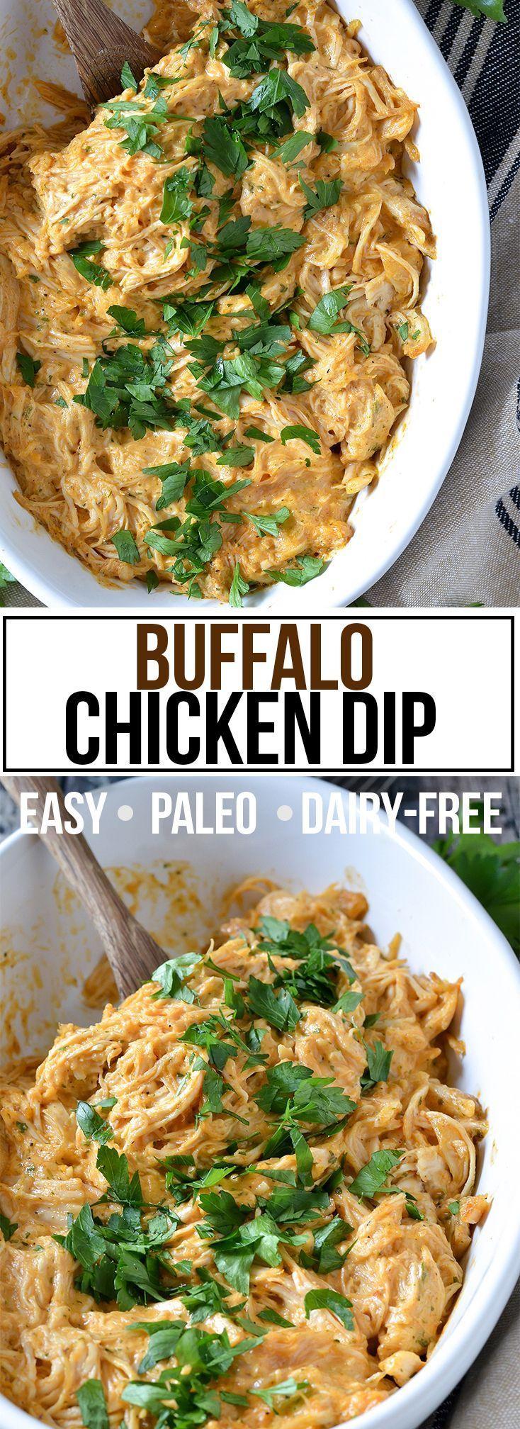 Buffalo Chicken Dip (Paleo + Dairy-Free) #dairyfreesmoothie