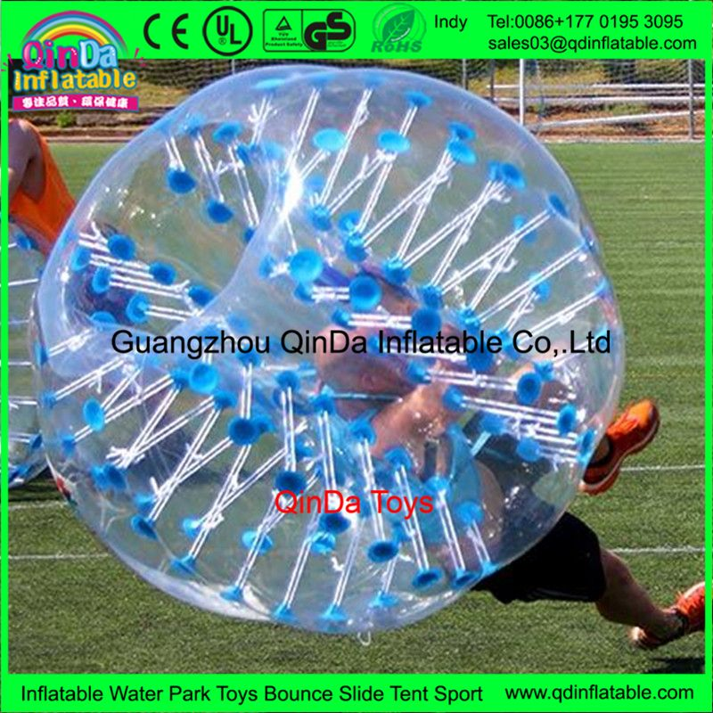 Amazing 1.5m bubble football with pump,1.0mm PVC