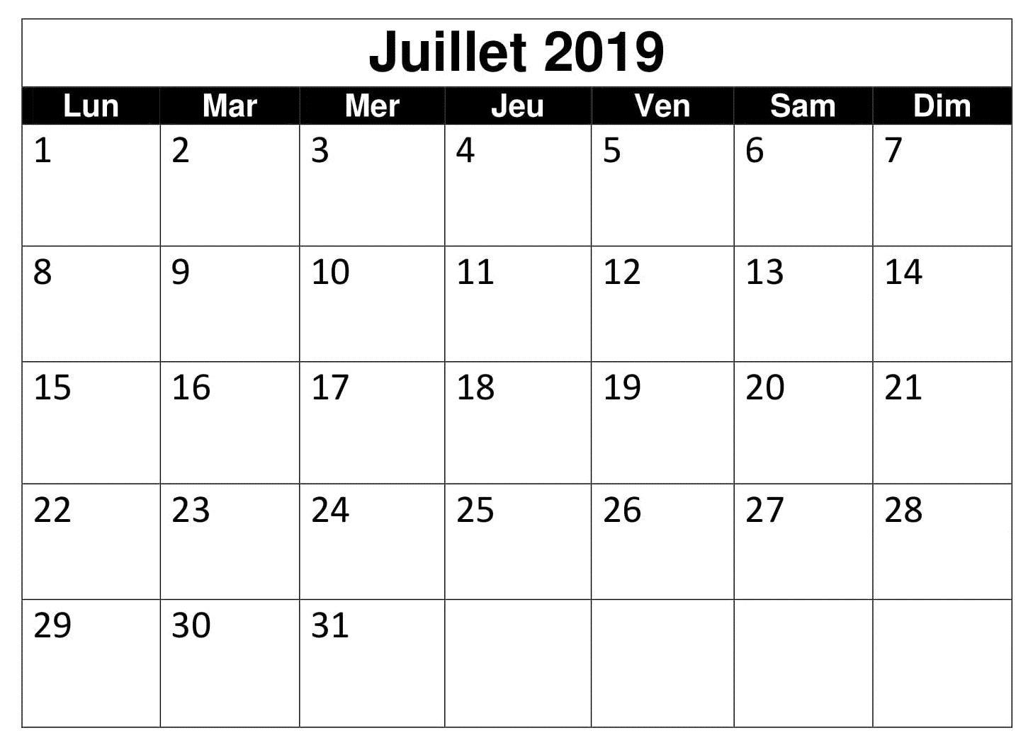 Calendrier Du Mois De Juillet 2019.Calendrier Mois Juillet 2019 Words Periodic Table
