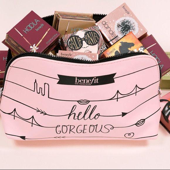 Benefit Cosmetics Makeup Bag Pouch Case Kit