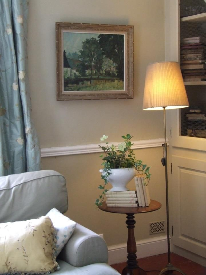 French Country Living Room 5 Love The Blue Couch And Grey Curtains