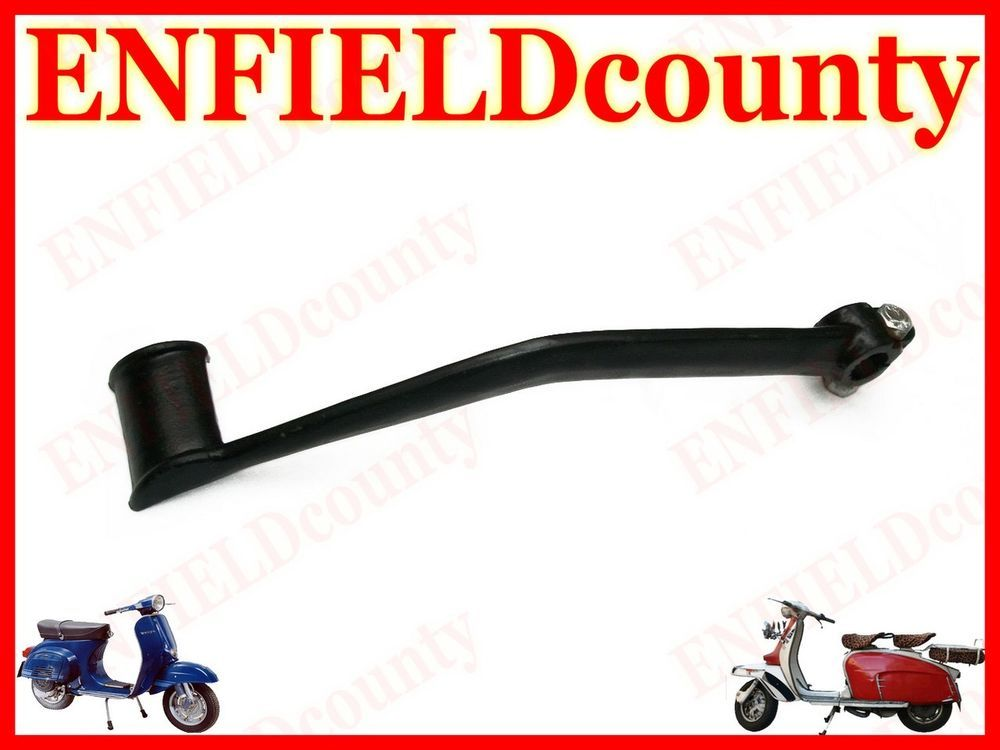 Enfield County Vespa Black Powder Coated Side Stand PX LML