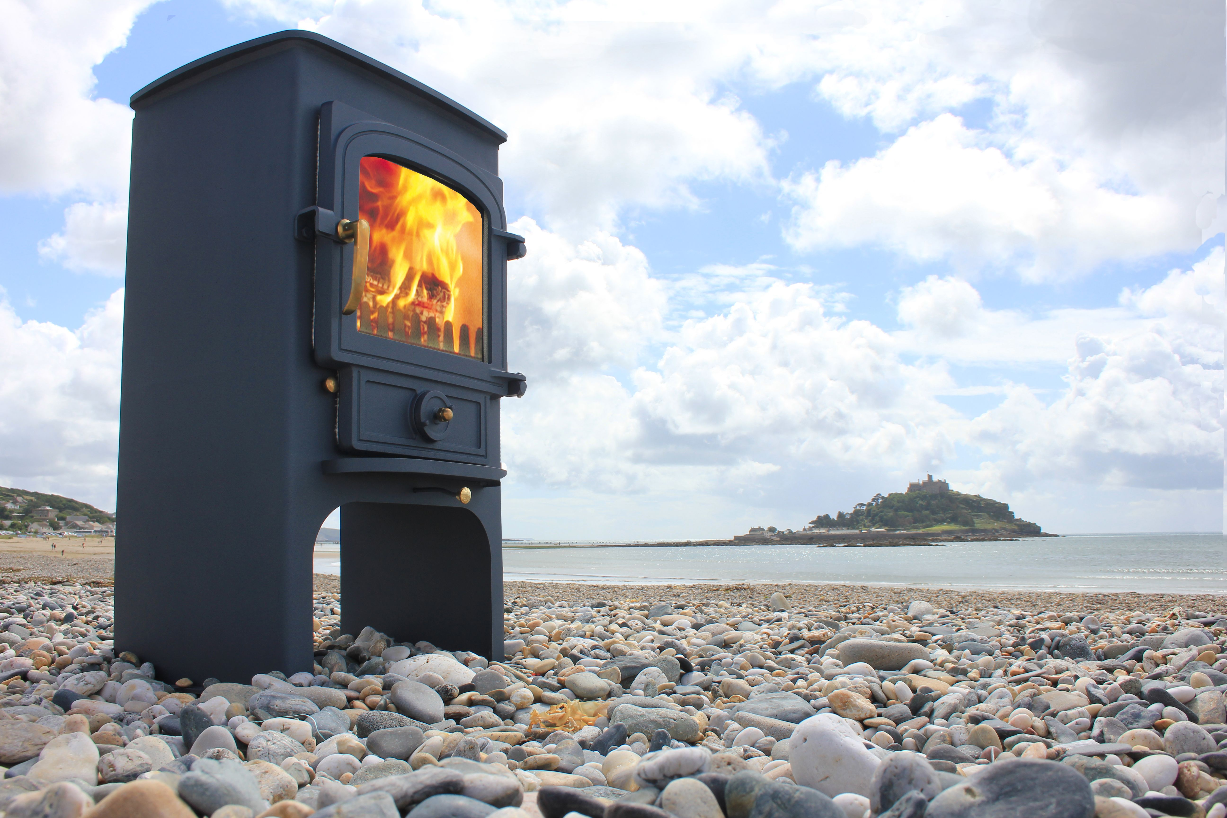 Clearview on Marazion beach Cornwall #woodbuner #Clearview