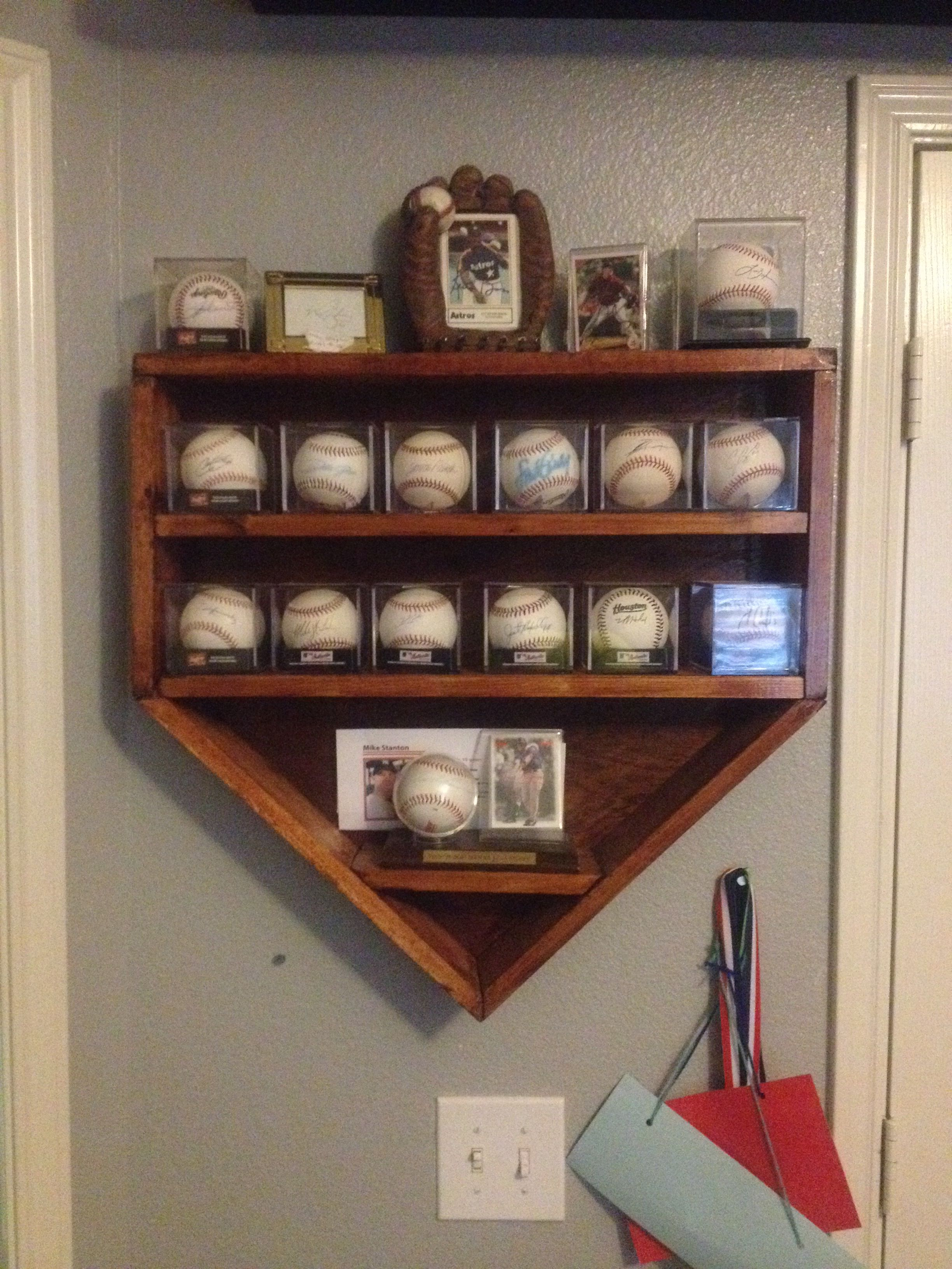 My Sons Autographed Baseball Collection Was Growing And Needed A Place To Store Them This