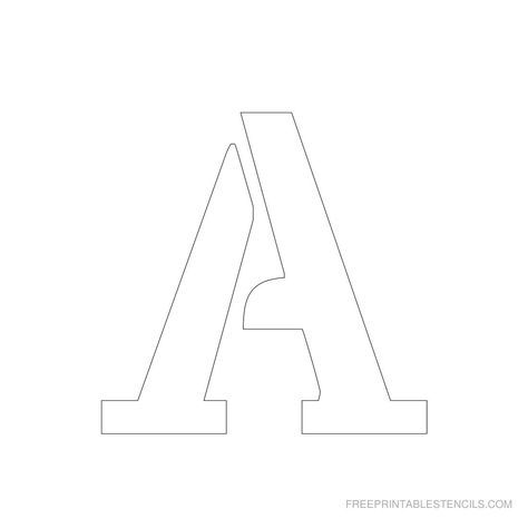Free Printable Letter Stencils  Stencil Letters  Inch Uppercase