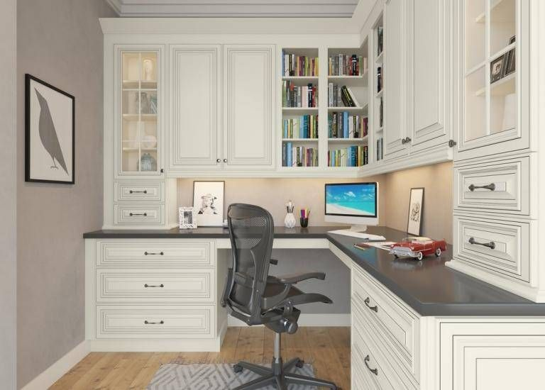 Signature Vanilla Pre Assembled Office Cabinets Home Office Design Office Cabinets Home Office Space